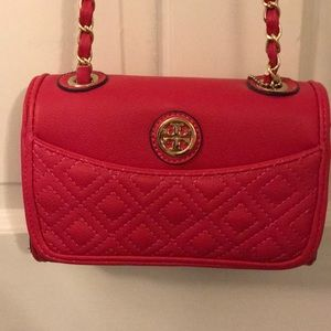 NWOT hot pink AUTHENTIC Tory Burch crossbody purse